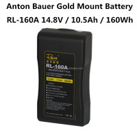 Rolux RL-160A Professional Video Camera Li-ion Battery A-mount Anton Bauer Gold Mount
