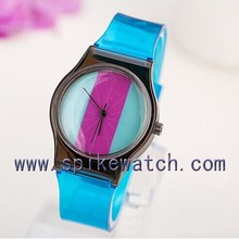 Charming PVC Band Women new times quartz ladies watch