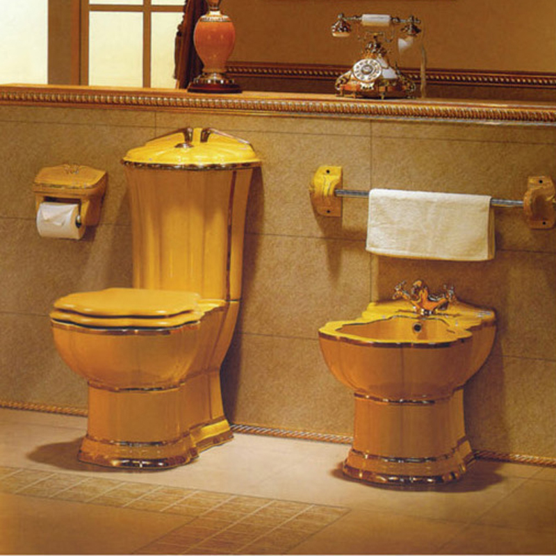 Hs-8059a Bathroom Western Water Closet,Bath And Toilet,Hand Painted ...