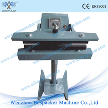 foot operation linear direct hit sealer with aluminum frame