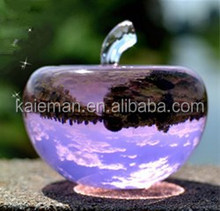 Clear Crystal apple for wedding souvenir gift