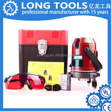 High quality automatic mini rotation 5 lines 6 points red laser level