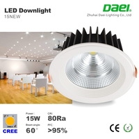 High luminance 15w led downlight 4 inch recessed downlight cob Cut hole size 120mm