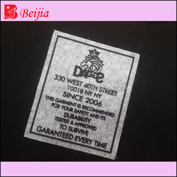 Cheap custom embossed silicone rubber heat transfer care for Heat transfer labels for t shirts