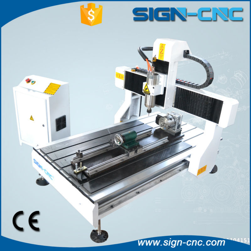 SIGN 6090 cnc wood router with rotary engraving/4 axis cnc wood ...