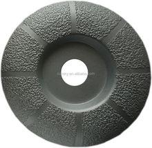 Vacuum Brazed Round Edge Diamond Grinding Wheel