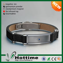 Hottime Original Classic Bio Magnetic Leather Bracelet Wholesale