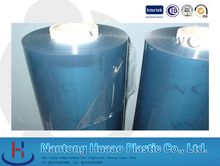 pvc super clear film crystal sheet in roll with blue color