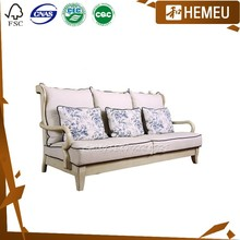 SF3001 - Solid maple wood frame fabric sofa set discount living room furniture