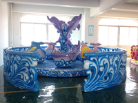 2015 hot carousel game machines for 10 players Revolving dolphin chair for amusement park kid rides