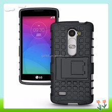 China Supplier Hong Wang Super Cool TPU PC Phone Case With Holder For LG Leon Mobile Phone Case Accessory