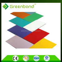 Greenbond 4mm aluminum composite modern decorative exterior wall siding panels of best price in china