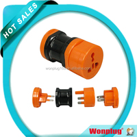 2014 CE Rosh Approval Top Selling Coloful Universal Plug UK US Travel Adaptor