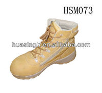 CJ,2013 newest style nubuck leather side zipper quick wearing military boots for women