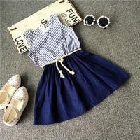 Bulk Cheap Factory Custom modern girls dresses girl sleeping out dress beautiful children dress