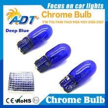 T10 194 Car halogen Chrome lamp with deep blue color light