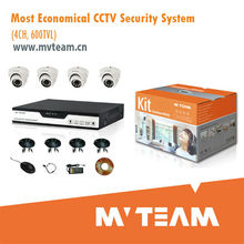 Walmart Qualified Economical 4CH cctv system DVR Kit Home Security with Certificate RoHs