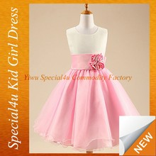 Girls pink frock design baby girl party dress children frocks designs SFUBD-938