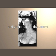 Hot sex handpainted art painting nude open girls picture for decor