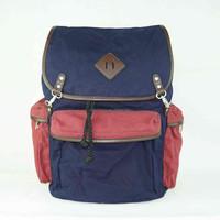 2015 cotton fabric drawstring school bag backpack for children