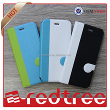 2015 mobile phone hot sale sublimation wallet cover for iPhone 6 Leather Case