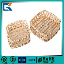 wholesale cheap handmade wicker square food basket made in china