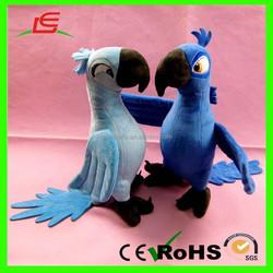 E514 Couple Blue Baby Parrot Love Birds Stuffed Plush Bird Toys