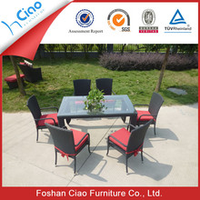 Red and black garden dining table set for sale outdoor furniture