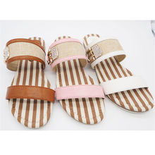 Export to US high quality plush crochet womens slippers