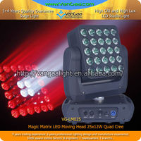 25 Piece 12W LED Disco RGBW Pixel Matrix Moving Head Light