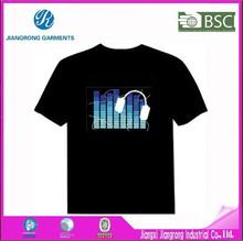 Hot China Led Flashing Light T-Shirt / Promotional Custom Led T-Shirt