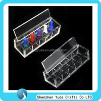 Free shipping Mini acrylic ecig drip tips display box with dividers, display case for ecigs drips showing