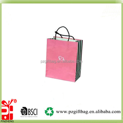 the design of the box glossy 3D large size of paper gift bag for christmas