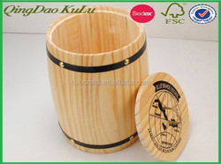 multi-purpose wooden bucket with lid for sale