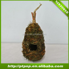 Wholesale natural weave grass and leaf bird nest