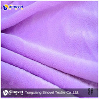100% Polyester Micro Silk Velvet Fabric,Short Pile Fleece