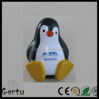 custom logo Pu foam penguin anti stress ball