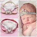 2015 bebê novo design strass coroa tiara tiara de metal wholeasle