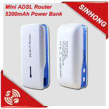Mini Pocket 5200mAh Power Bank 3G 4G GSM Router Long Range WiFi
