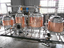 Red copper 100L beer brewing equipment Used making machine Home beer making for sale