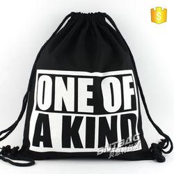 Hot promotion recycling natural drawstring shopping bag