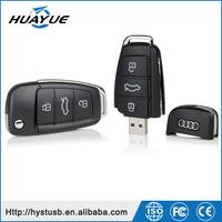 Factory Price Mini USB 2.0 Car Key Shaped Plastic USB Memory Stick with Tin Box