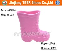 2015 new cheap kids eva rain boots plastic boots women wellington boots