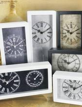 "10"" antique decorative wooden craft weather station bedside table clock"
