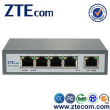 ZTEcom Plug and play High Power 5 ports Desktop PoE Switch