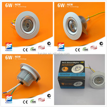 Driverless 6w cutout 70mm samsung cob dimmable led house downlight