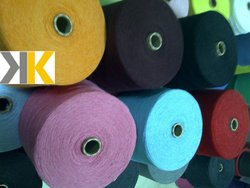 COTTON / ACRYLIC BLENDED PRE-DYED OPEN END YARN