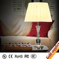 Marco redondo de vidrio sombra lámpara de mesa decoración iluminación de la mesa