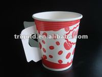 2015 8oz hot drink paper cup with handle /keep drinks hot cups/paper cup with tea