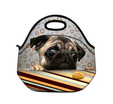 Cute Pug Insulated Neoprene Tote Lunch Bag / Cooler Bag